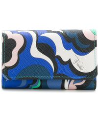 Emilio Pucci - Printed Key Holdera Foldover Top With Snap Closure - Lyst