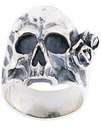 Maison Recuerdo - Skull Rose Ring - Lyst
