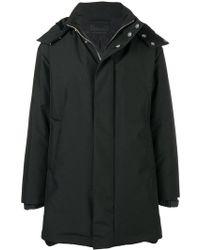Prada - Technical Canvas Hooded Coat - Lyst
