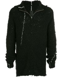 Thom Krom - Hooded Knitted Jacket - Lyst