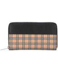 Burberry - Scale Check Ziparound Wallet - Lyst