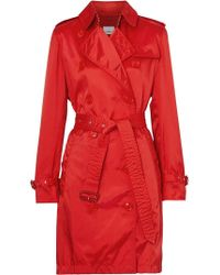 Burberry - Detachable Hood Technical Nylon Trench Coat - Lyst