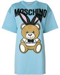 Moschino - Kleid mit Print - Lyst