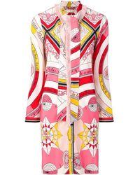 Tory Burch - Printed Shirt Dress - Lyst