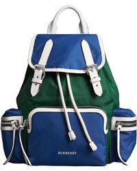Burberry - The Medium Rucksack In Colour Block Nylon - Lyst