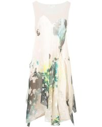 Kamperett - Tanis Sheer Asymmetric Dress - Lyst
