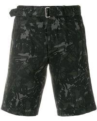 Officine Generale - Scribble Print Shorts - Lyst
