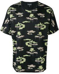 Emporio Armani - T-Shirt mit Camouflage-Print - Lyst
