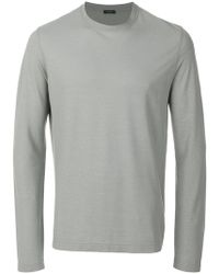 Zanone - Long Sleeved Sweatshirt - Lyst