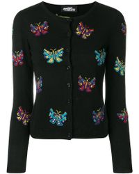 Jeremy Scott - Butterfly Intarsia Cardigan - Lyst