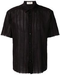 Saint Laurent - Sheer Panelled Shirt - Lyst