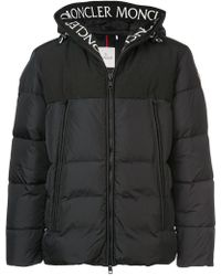 Moncler - Logo Hooded Down Jacket - Lyst