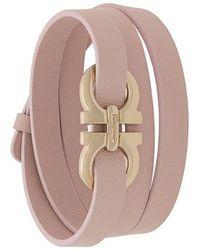 Ferragamo - Logo Plaque Bracelet - Lyst