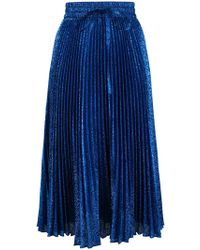 RED Valentino - Falda plisada de lurex - Lyst
