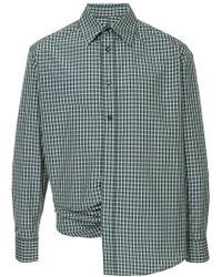 Martine Rose - Wrap Detail Cotton Shirt - Lyst
