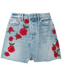 GRLFRND   Beaded Rose Mini Skirt   Lyst