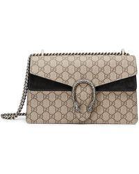 0799257f024 Gucci Dionysus Gg Supreme Mini Bag in Natural - Lyst