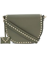 Valentino - Garavani Rockstud Saddle Shoulder Bag - Lyst