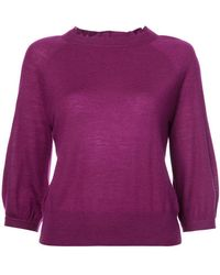 Co. - Ruffle-trim Fitted Sweater - Lyst