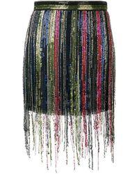 Amen - Fringed Sequin Skirt - Lyst