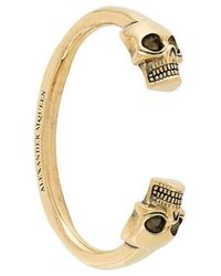 Alexander McQueen - Bracciale 'Twin Skull' - Lyst