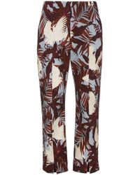 Erdem - Slim Cropped Trousers With Floral Print - Lyst