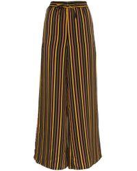 Onia - Chloe Striped Wide Leg Pants - Lyst