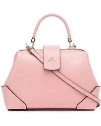 MANU Atelier - Bubblegum Pink Frame Leather Cross-body Bag - Lyst