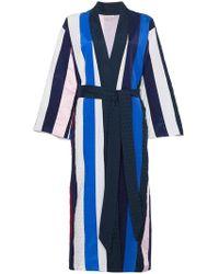 Natasha Zinko | Striped Midi Robe | Lyst