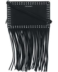 Twin Set | Fringed Studded Shoulder Bag | Lyst