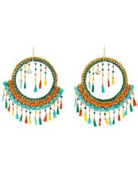 Rosantica - Merida Tassel And Bead Embellished Earrings - Lyst