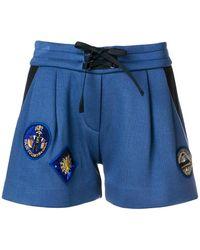 Mr & Mrs Italy - Pleated Drawstring Shorts - Lyst