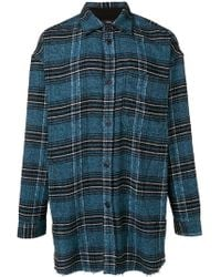 DIESEL - Tape Detail Checked Shirt - Lyst