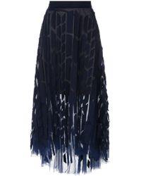 Gloria Coelho - Panelled Tulle Skirt - Lyst