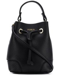 Furla - Logo Printed Bucket Bag - Lyst
