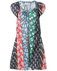 Carven - Patchwork Print Dress - Lyst