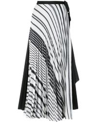 TOME - Striped Flared Skirt - Lyst