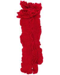 MM6 by Maison Martin Margiela - Ruffled Knit Socks - Lyst