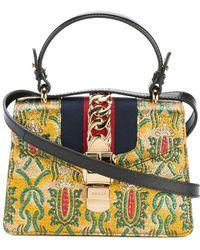 6bf81e877ef Gucci Sylvie Flame Shoulder Bag in Orange - Lyst