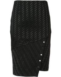 Yigal Azrouël - Asymmetric Pencil Skirt - Lyst