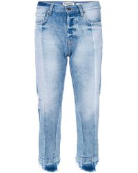 Essentiel Antwerp - Cropped Fitted Jeans - Lyst