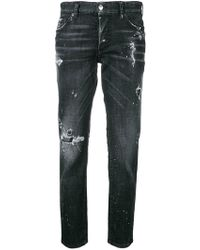 DSquared² - Cropped-Jeans im Distressed-Look - Lyst