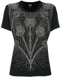 Just Cavalli - Floral Embellished T-shirt - Lyst