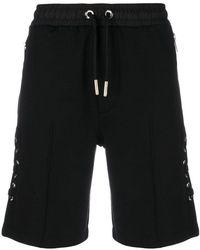 Les Hommes - Lace-up Detail Shorts - Lyst