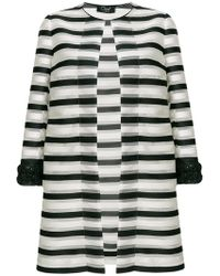 Clips - Striped Fitted Coat - Lyst