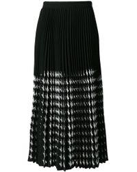 MSGM - Midi Pleated Skirt - Lyst
