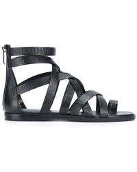 Balmain - Claire Multi Strap Flat Sandal - Lyst