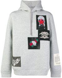 John Richmond - Patch-work Hooded Sweatshirt - Lyst