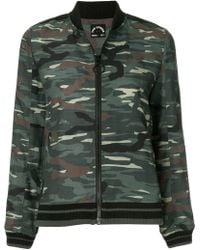 c21c0b27cca7f Veronica Beard Quilted Camouflage Bomber Dickey in Green - Lyst