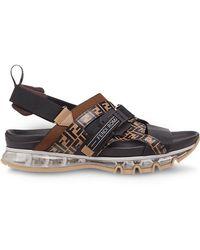 b3707be60 Fendi - Ff Buckle Sandals - Lyst